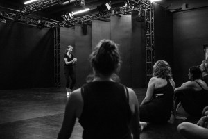 Students training with Ellen Lauren last week at Theatre New Brunswick.